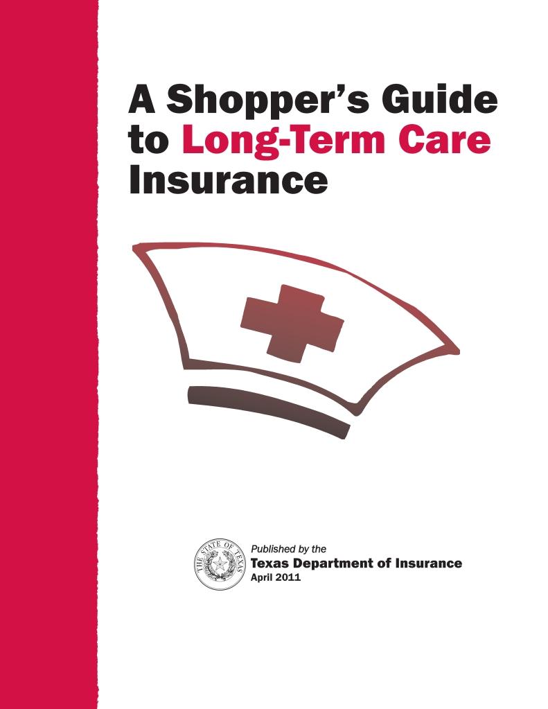 TX Shoppers Guide to Long-Term Care Insurance PIX